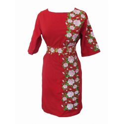 "Dress with embroidered ""Flaming Passion"""