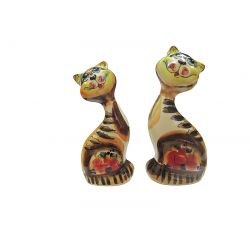 Large Pair of Cats (multicolored) New