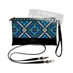 "Clutch ""Blaue Stickerei"""