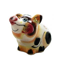 "Porcelain Figurine ""Piggy"" (multicolored)"