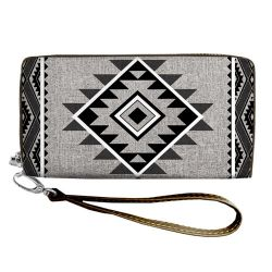 "Clutch Wallet ""Ethno"" black and white"