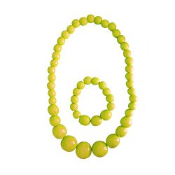 Beads with bracelet yellow