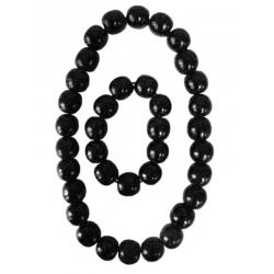 Large beaded black necklace