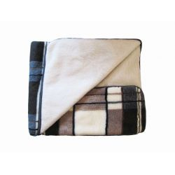 Plaid adult from sheepskin 1,5 * 2,0 m