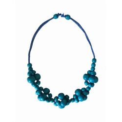 Beads twisted blue