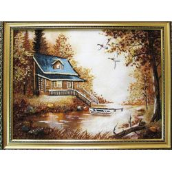 "Picture from amber ""House with a boat"""