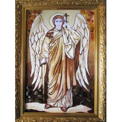 "Icon from amber ""Archangel Michael"""