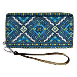 "Clutch purse ""Blue motive"""