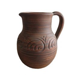 "Small brown ceramic jug ""Gloss"" СК"