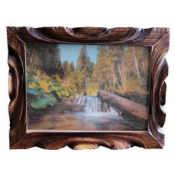 "Painted key box ""Forest stream"""