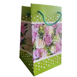 "Gift bag ""Green polka-dot bouquet"" 200 х 120"