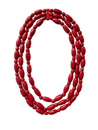 "Beaded necklace ""Barberry"""