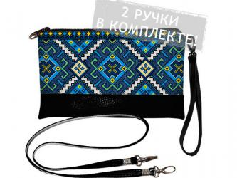 "Clutch ""Blue embroidery"""