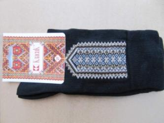 "Embroidered socks ""The long road"""