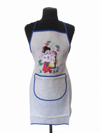 "Apron with embroidery ""Date"""