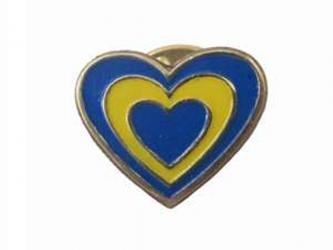 "Badge ""Heart"" metal"